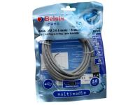 Кабель USB 2.0 AM/BM 3m 1 кольцо, Belsis BW1412