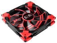 Вентилятор Aerocool DS 12см Red (красная подсветка), 3+4 pin, 54.8 CFM, 1200 RPM, 15.8 dBA при 12V и 36.7 CFM, 800 RPM, 12.1 dBA при 7V