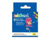 Восковые мелки Adel ADELAND круглые 10 мм 8 цветов 8 штук от 3 лет 228-2814-100
