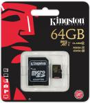 Фото Карта памяти Micro SDXC 64GB Class 10 Kingston SDCA10/64GB + адаптер SD