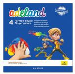 Пальчиковые краски Adel ADELAND 4 цвета 234-0630-100