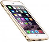 Бампер Melkco Q Arc Aluminium для iPhone 6 Plus золотой APIP65ALQAGDME