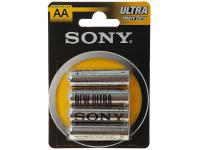 Батарейки Sony New Ultra R6-4BL AA 4 шт SUM3NUB4A