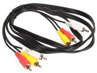 Кабель соединительный 1.5м VCOM Telecom 3xRCA(M)-3xRCA(M) VAV7150-1.5M