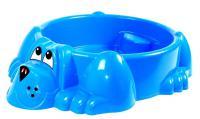 Песочница-бассейн Marian Plast Собачка с покрытием синий 431