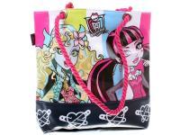 Сумка Monster High УТ000003295 1 л черный рисунок розовый
