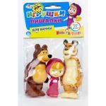 Набор игрушек для ванны Играем вместе Маша, Медведь и Тигр 168RUS-PVC