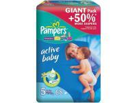Подгузники Pampers Active Baby Junior (11-18 кг) Джайнт Упаковка 68 шт.