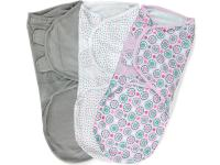 Конверты для пеленания на липучке размер L 3 шт. Summer Infant Swaddleme (розовые цветы)