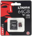 Фото Карта памяти Micro SDXC 64GB Class 10 Kingston SDCA3/64GB + адаптер