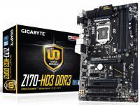 Мат. плата для ПК GigaByte GA-Z170-HD3 DDR3 Socket 1151 Z170 4xDDR3 2xPCI-E 16x 2xPCI 2xPCI-E 1x 6xSATAIII ATX Retail