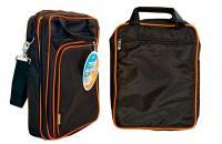 """Сумка для ноутбука 14.1"""" Kreolz B252B нейлон черно-оранжевый"""