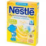 Каша Nestle молочная мультизлаковая с яблоком и бананом с 6 мес. 250 гр.