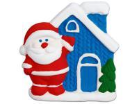 Набор для росписи по гипсу и керамике Color Puppy фигурка Домик Деда Мороза (магнит) от 3 лет 971380