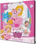 PRI001-s5 Футболка с фломастерами для раскрашивания Princess (Принцесса)-Возраст 5 лет/Рост 110 см