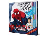 SM001-s8 Футболка с фломастерами для раскрашивания Spider-Man-Возраст 8 лет/Рост 128 см