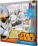 SW001-s5 Футболка с фломастерами для раскрашивания Star Wars-Возраст 5 лет/Рост 110 см