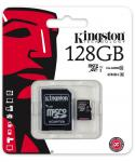 Фото Карта памяти Micro SDXC 128GB Class 10 Kingston SDC10G2/128GB + адаптер