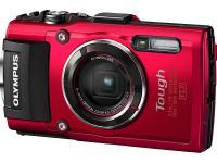 Цифровой фотоаппарат Olympus TG-4 16Mp 4x Zoom красный