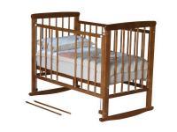 Кроватка-качалка Красная Звезда Машенька С237 (красно-коричневый)