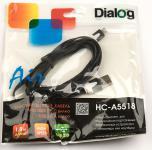 Кабель USB 2.0 AM-microBM 1.8м плоский 2x-цветный Dialog HC-A5518