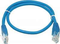 Патч-корд 5E категории UTP синий 0.5м