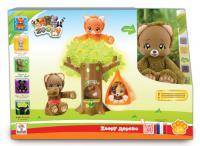 Мягкая игрушка Zoopy Мишка и дерево с гнездом искусственный мех пластик разноцветный Т57055