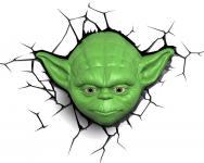 Пробивной 3D светильник StarWars (Звёздные Войны) Yoda (Йода) 50025