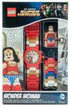 Часы наручные аналоговые Lego Super Heroes с минифигурой Wonder Woman на ремешке разноцветный 8020271