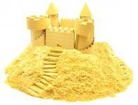 Песок 1 Toy Космический песок Жёлтый 3 кг с песочницей и формочками  Т58582