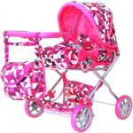 Коляска для кукол RT цвет розовые ромбы 9663-1