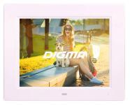 "Цифровая фоторамка Digma PF-833 белый 8"" 1024x768 пластик"