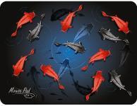 Коврик для мыши Dialog PM-H17 fish черный с рисунком