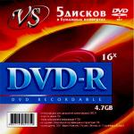 Фото Диски DVD-R VS 16x 4.7Gb 5шт