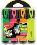 Набор текстмаркеров Maped Fluo Pep's Classic 1 мм 4 шт разноцветный 742547 742547