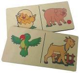 Настольная игра Огонек домино Логическое домино Животные 11735