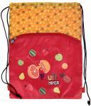 Мешок для обуви FRUIT NINJA, разм. 43х32 см, с доп. карманом на молнии, оранжевый FN-ASS4306/2