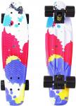 "Фото Скейтборд Y-SCOO Fishskateboard Print 22"" RT винил 56,6х15 с сумкой Splatter 401G-Sp"