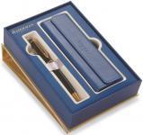Набор ручка шариковая EXPERT Black GT, синие чернила, M + чехол для ручки из кожзама