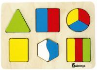 Пазл Alatoys Дроби-фигуры 18 элементов