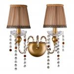 Фото Бра Crystal Lux Alegria AP2 Gold-Brown