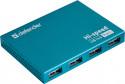 Концентратор USB Defender Septima Slim 7 порт. USB2.0  хаб (с адап. 2A)