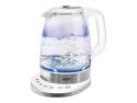 Чайник MYSTERY MEK-1628 — — пластик/стекло белый серебристый