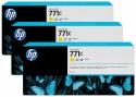 Струйный картридж HP B6Y34A №711С желтый для HP Designjet Z6200 3 шт.