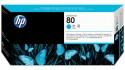 Картридж HP C4821A 80 + очиститель для Designjet 1050c/c plus/1055 голубой