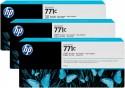 Струйный картридж HP B6Y37A №771С черный для HP Designjet Z6200 3шт.