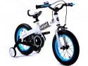 Велосипед Royal baby Steel Buttons White Frame 12 дюймов синий
