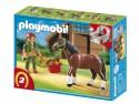 Конструктор Playmobil Конный клуб: Шайрская лошадь со стойлом 5108