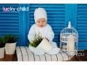 Ползунки Lucky Child Ангелочки, размер 20 (62-68) Голубые