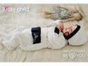 Ползунки Lucky Child Классик, размер 22 (68-74) Молочные